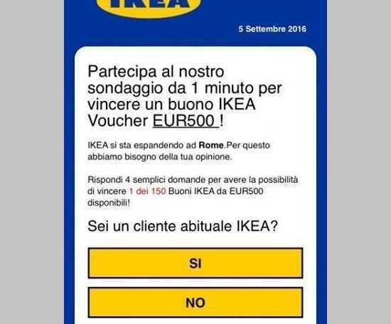 Falso buono IKEA da 500 euro