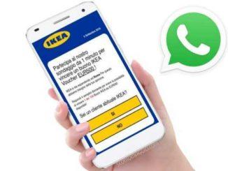 """Attenti su WhatsApp alla mega truffa del falso """"buono IKEA da 500 euro"""""""